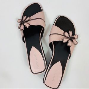 Maripe Guitar Leather Pink Brown Sandals Slides